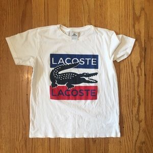 Clean white Lacoste T shirt